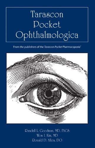 Tarascon Pocket Ophthalmologica 9780763786625