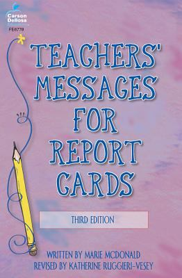 Teachers' Messages for Report Cards 9780768224559