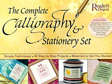 The Complete Calligraphy & Stationary Set [With 2 Books and Bottle of Black Ink/ Embossing Tool/ Paper/ Envelo and Double-Nibbed Calligraphy 9780762108695