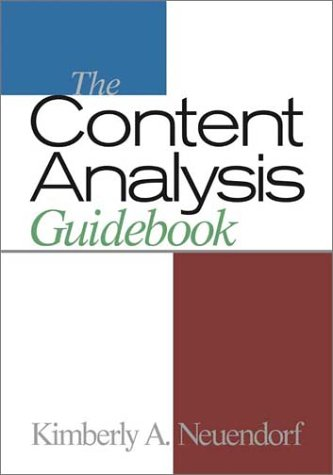 The Content Analysis Guidebook 9780761919773