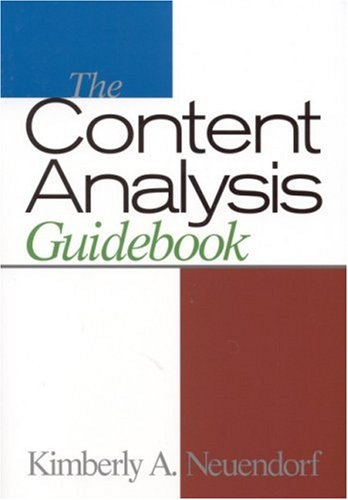 The Content Analysis Guidebook 9780761919780