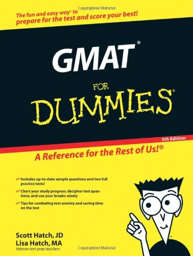 The GMAT for Dummies 9780764596537