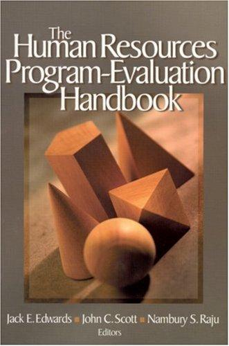 The Human Resources Program-Evaluation Handbook 9780761923961