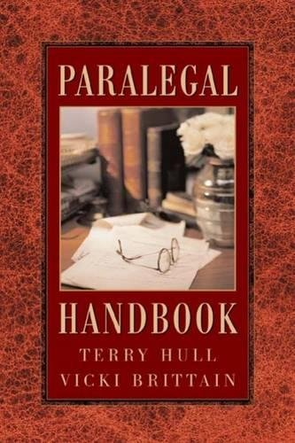 The Paralegal Handbook 9780766807723