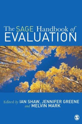 The Sage Handbook of Evaluation 9780761973058