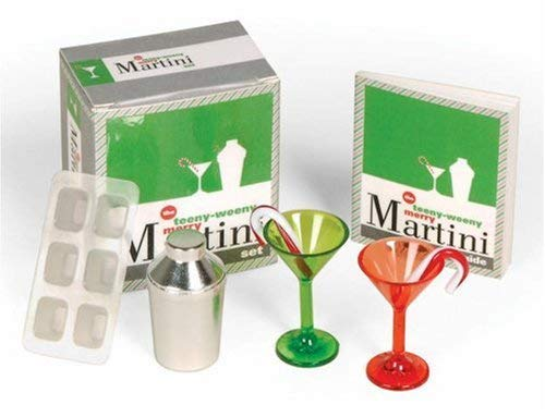 The Teeny-Weeny Merry Martini Set [With Ice Cube Tray, Mini Metal Shaker, 2 Stirrers and Red & Green Tinted Martini Glasses and 32-Pa 9780762434312