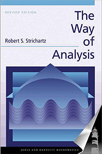The Way of Analysis, Revised Edition 9780763714970