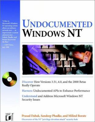 Undocumented Windows NT [With CDROM] 9780764545696