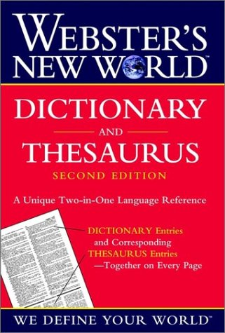 Webster's New World Dictionary and Thesaurus Second Edition 2002c 9780764563393