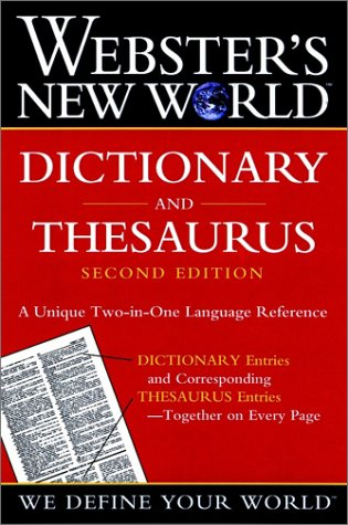 Webster's New World Dictionary and Thesaurus 9780764565458
