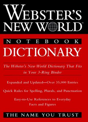 Webster's New World Notebook Dictionary 9780764561498