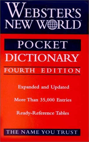 Webster's New World Pocket Dictionary 9780764561474