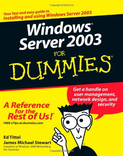 Windows Server 2003 for Dummies 9780764516337