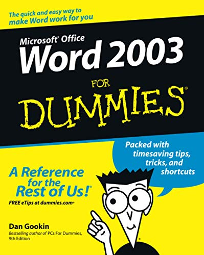 Word 2003 for Dummies 9780764539824