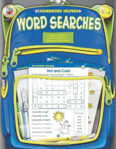 Word Searches, Homework Helpers, Grades K-1 9780768206920