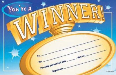 You're a Winner! Pat-On-The-Back Award 9780768225624