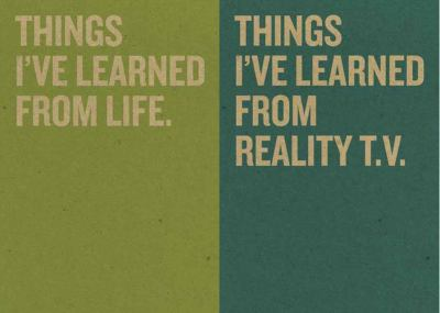 Jotty Journals: Wisdom: Things I've Learned from Life and Things I've Learned from Reality TV