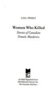 Women Who Killed 9780771071539