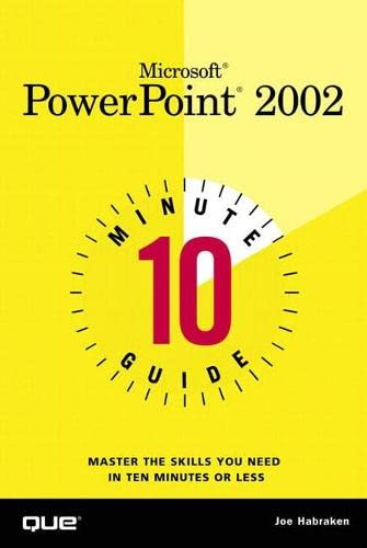 10 Minute Guide to Microsoft PowerPoint 2002 9780789726377