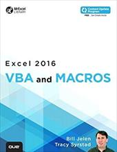 Excel 2016 VBA and Macros (includes Content Update Program) (MrExcel Library) 23036219