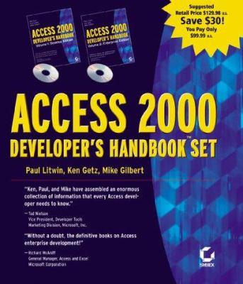 Access 2000 Developer's Handbook (2-Volume Set) 9780782123715