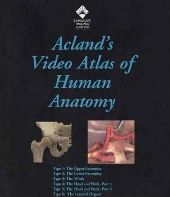 Aclands Video Atlas Of Human Anatomy Vhs Personal User 6 Video Set