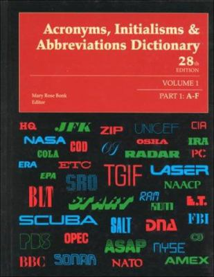 Acronyms, Initialisms & Abbreviations Dictionary 9780787633813