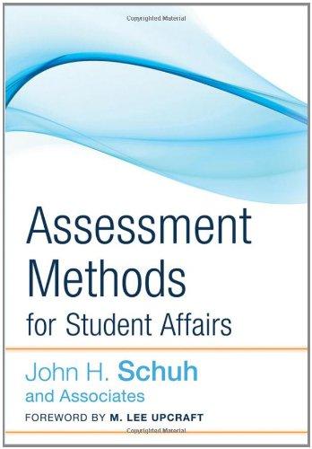 Assessment Methods for Student Affairs 9780787987916