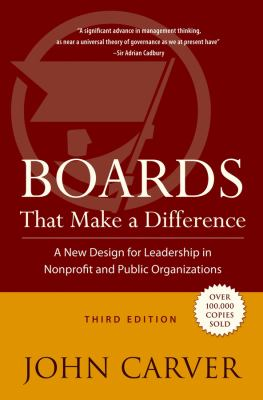 Boards That Make a Difference: A New Design for Leadership in Nonprofit and Public Organizations 9780787976163