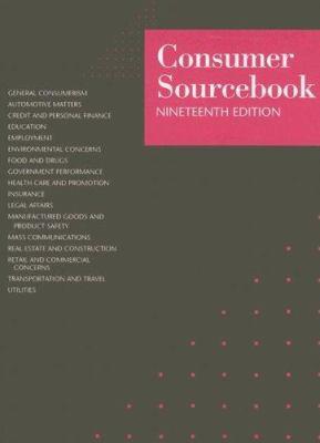 Consumer Sourcebook 9780787680923