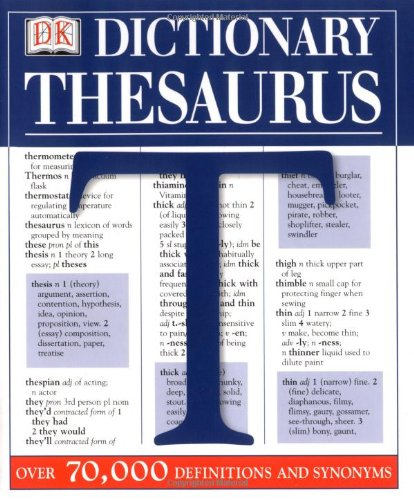 Details about DK Concise Dictionary/Thesaurus : Over 70,000 Definitions and  Synonyms