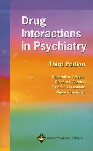 Drug Interactions in Psychiatry 9780781748179
