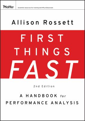 First Things Fast: A Handbook for Performance Analysis 9780787988487