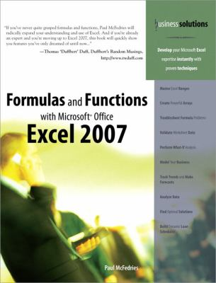 Formulas and Functions with Microsoft Office Excel 2007 9780789736680