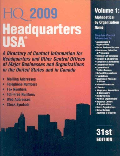 Headquarters USA 2 Volume Set 9780780810662