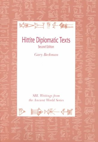 Hittite Diplomatic Texts, Second Edition 9780788505515