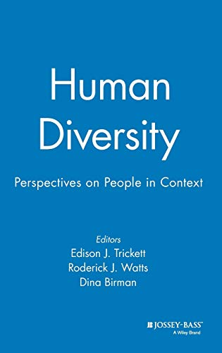 Human Diversity: Perspectives on People in Context 9780787900298