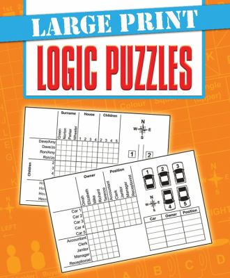 Large Print Logic Puzzles 9780785828235