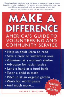 Make a Difference: America's Guide to Volunteering and Community Service 9780787968045