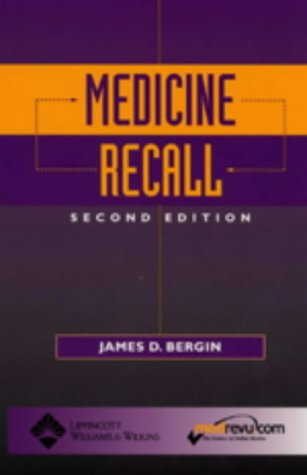 Medicine Recall 9780781736763