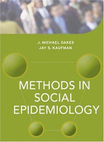 Methods in Social Epidemiology 9780787979898