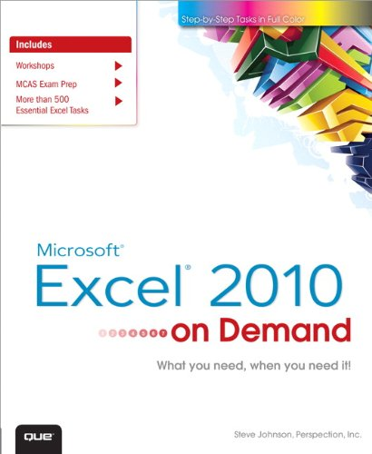 Microsoft Excel 2010 on Demand 9780789742773