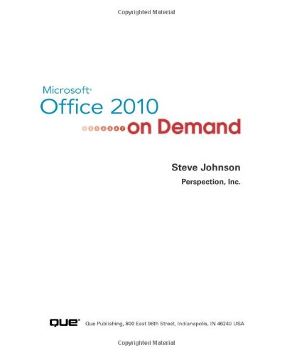 Microsoft Office 2010 on Demand 9780789742780