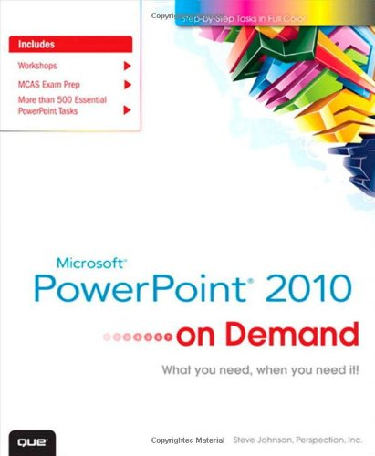 Microsoft PowerPoint 2010 on Demand 9780789742803
