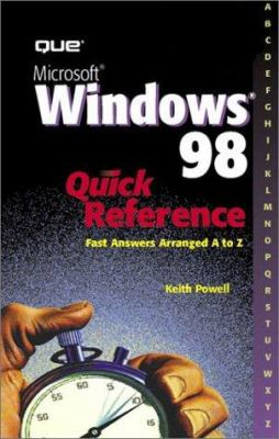 Microsoft Windows 98 Quick Reference 9780789720306