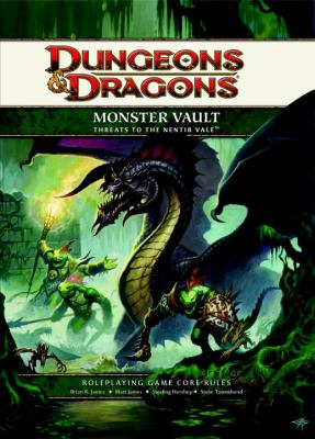 Monster Vault: Threats to the Nentir Vale: Roleplaying Game Supplement [With Tokens, Die-Cut Sheets of Card Stock Monsters and Paperback Book]