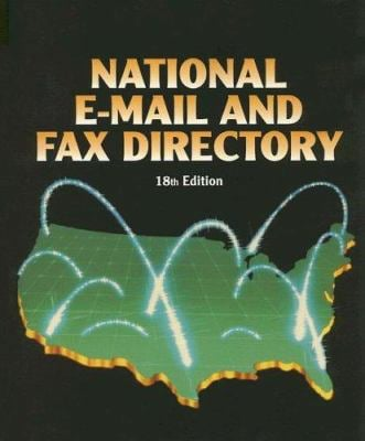 National E-mail and Fax Directory 9780787686642