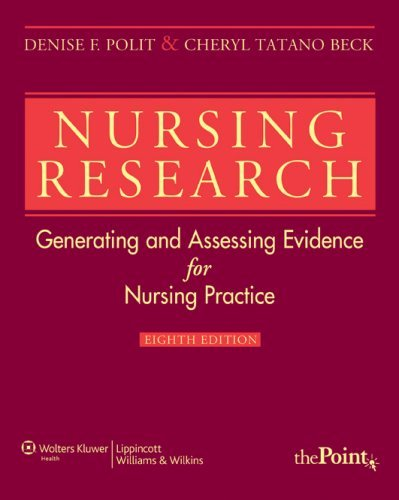polit and beck According to polit and beck (2008), a research critique is a mecha-nism to provide feedback for improvement they suggest that nurses who.