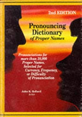 Pronouncing Dict of Proper Names 2n 9780780800984