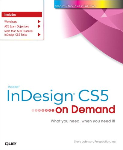 Adobe InDesign CS5 on Demand 9780789744463
